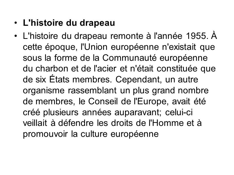L histoire du drapeau