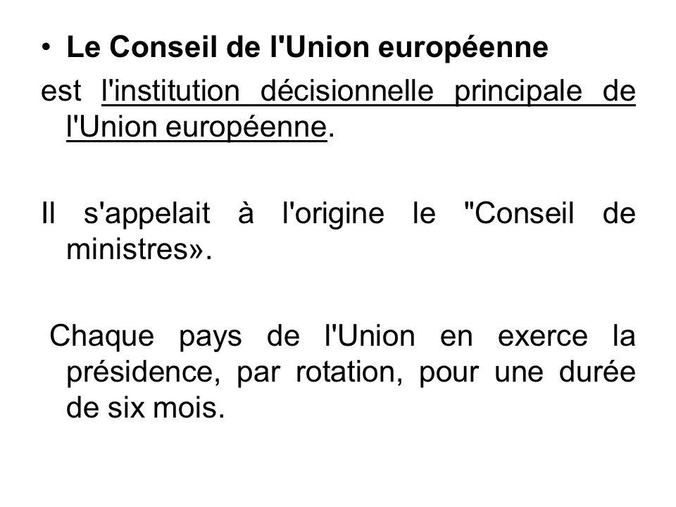 Le Conseil de l Union européenne