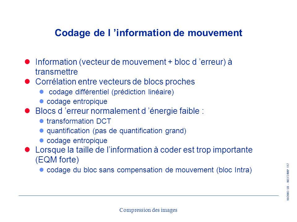 Codage de l 'information de mouvement