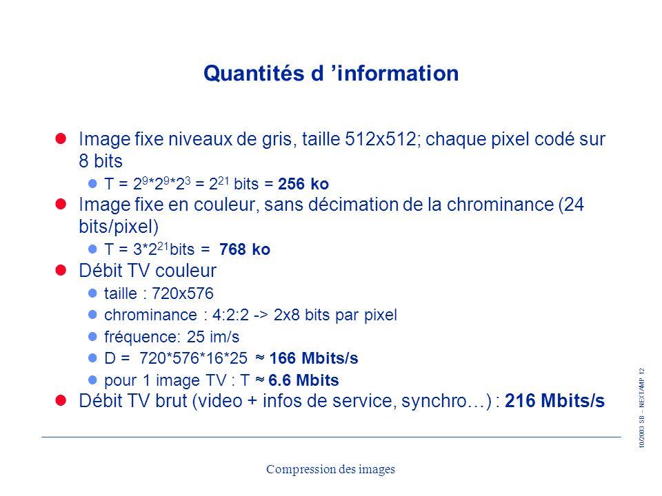 Quantités d 'information