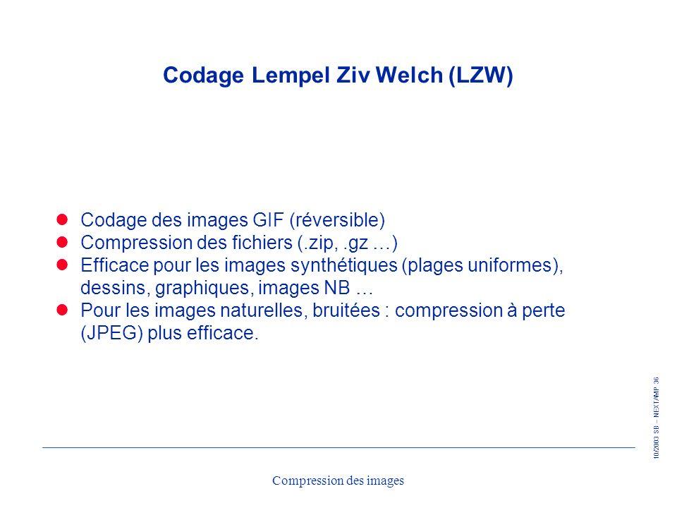 Codage Lempel Ziv Welch (LZW)