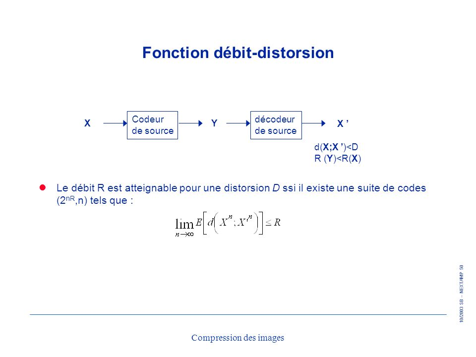 Fonction débit-distorsion
