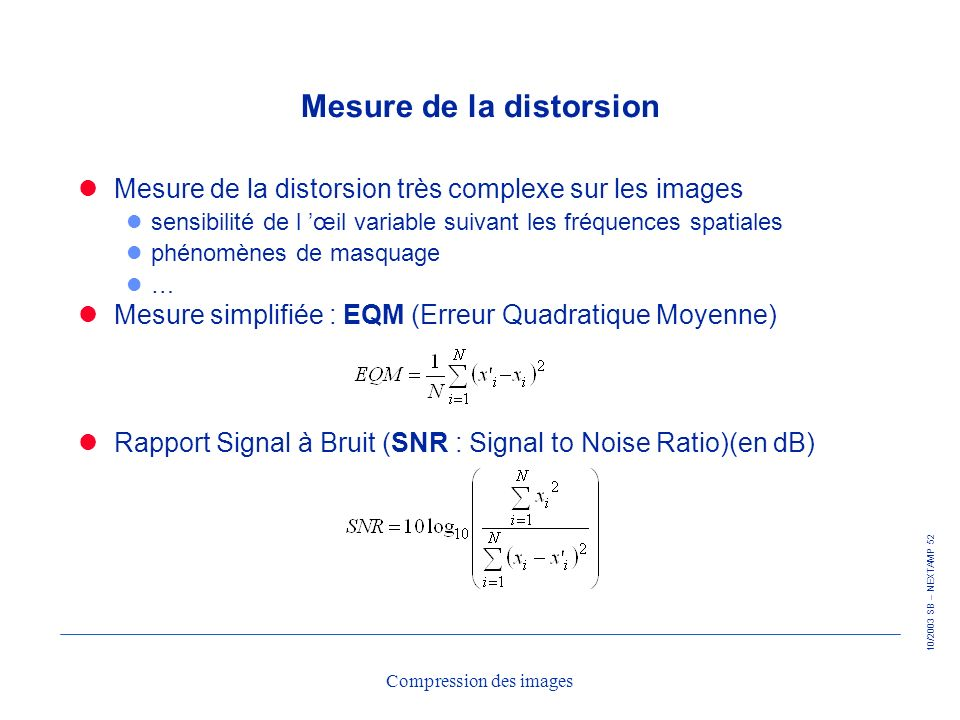 Mesure de la distorsion