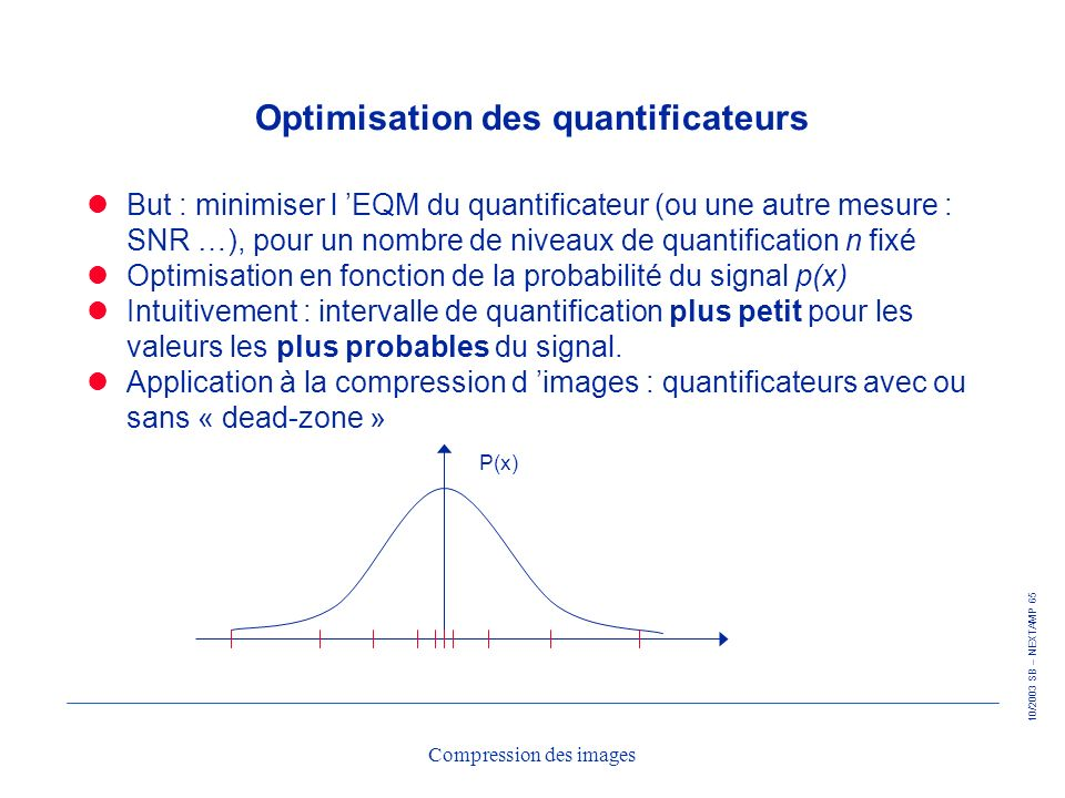 Optimisation des quantificateurs