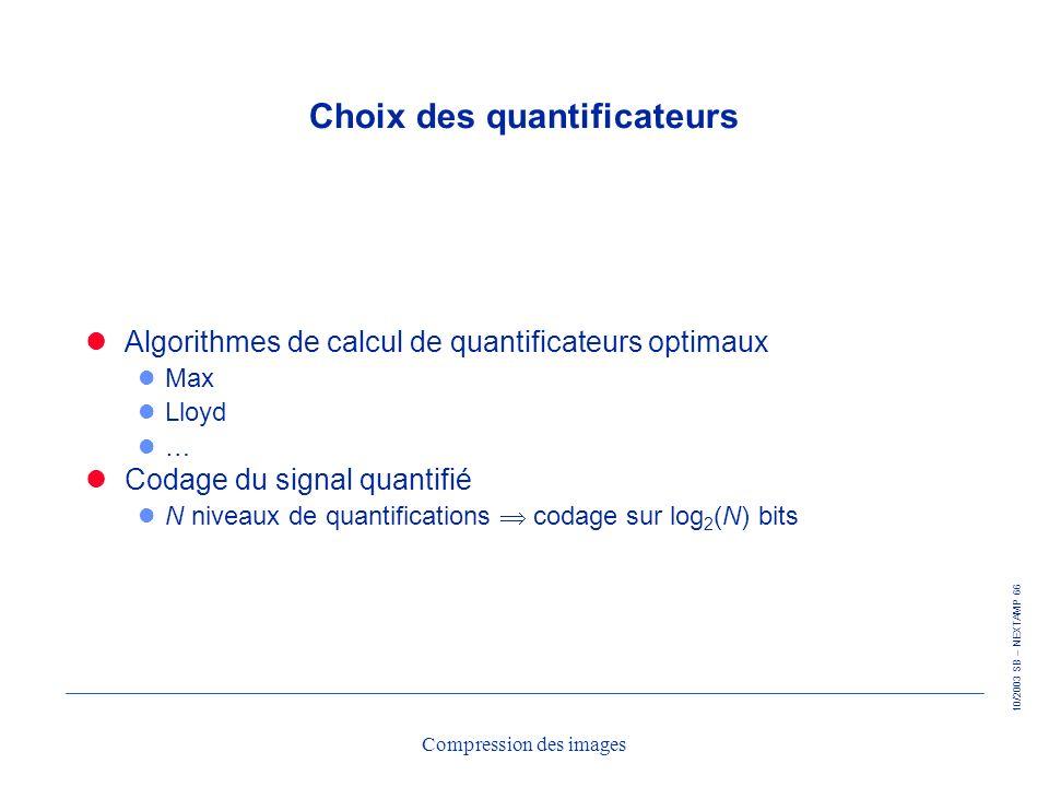 Choix des quantificateurs