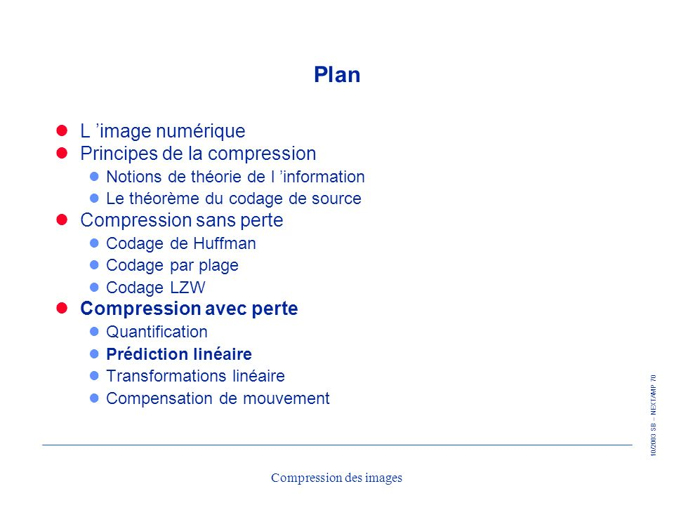 Compression des images