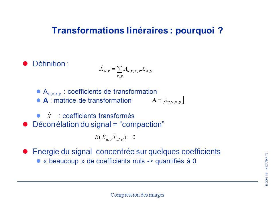 Transformations linéraires : pourquoi