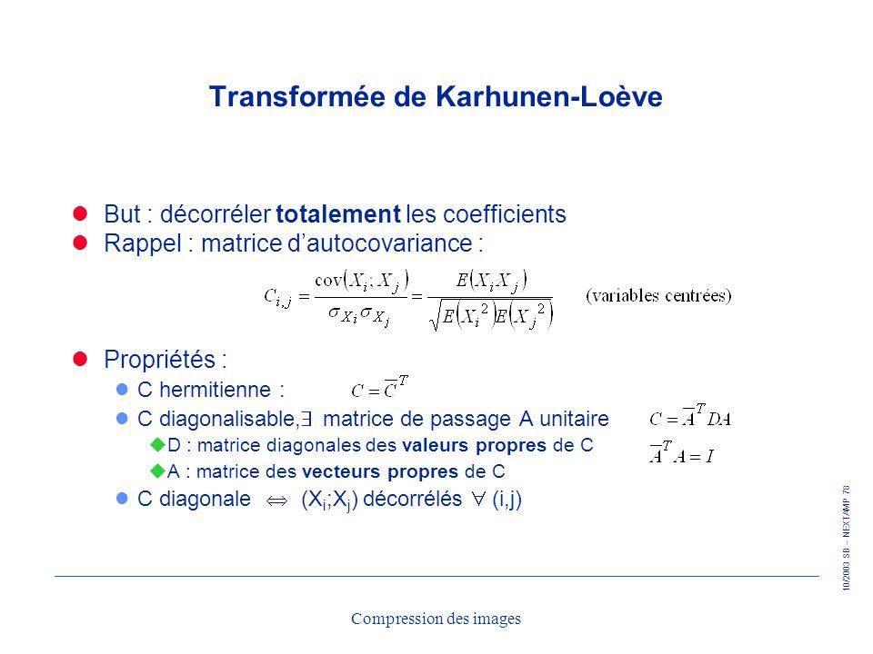 Transformée de Karhunen-Loève