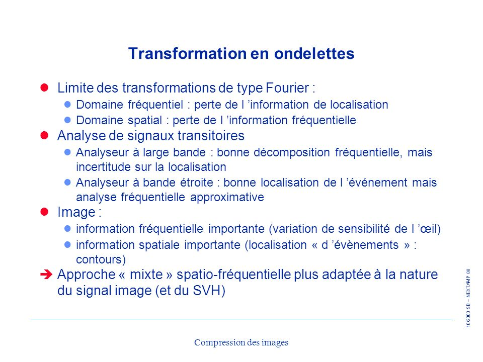 Transformation en ondelettes