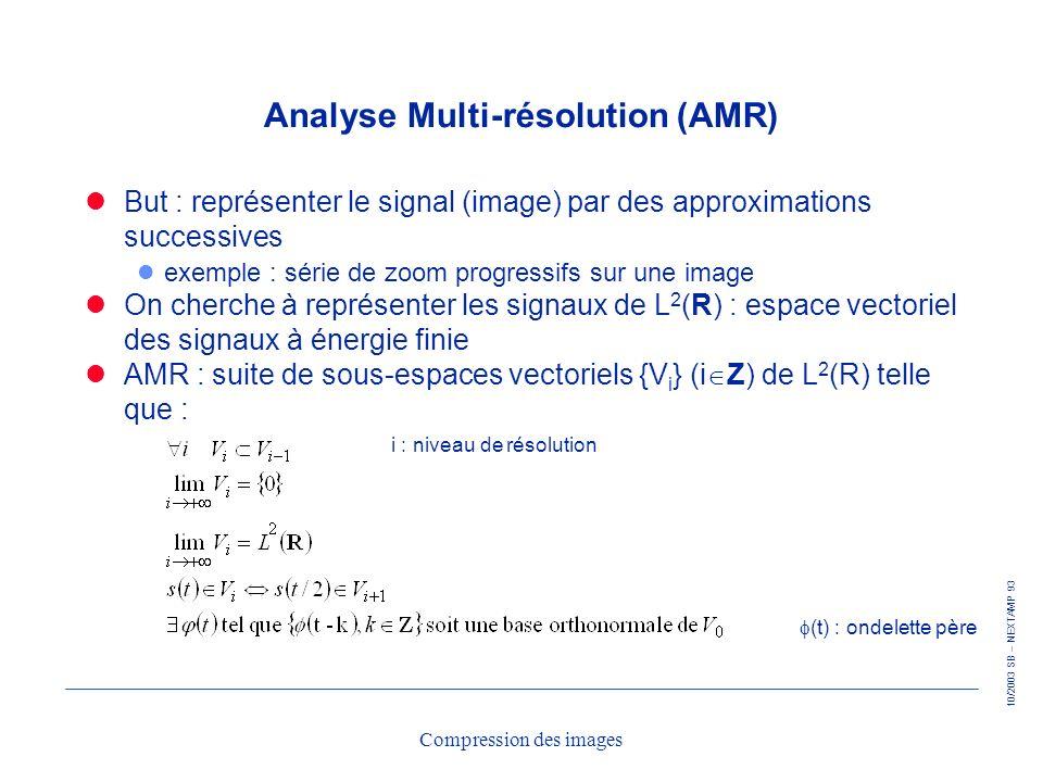 Analyse Multi-résolution (AMR)