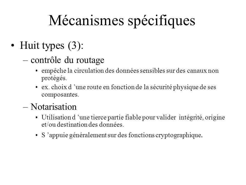 Mécanismes spécifiques