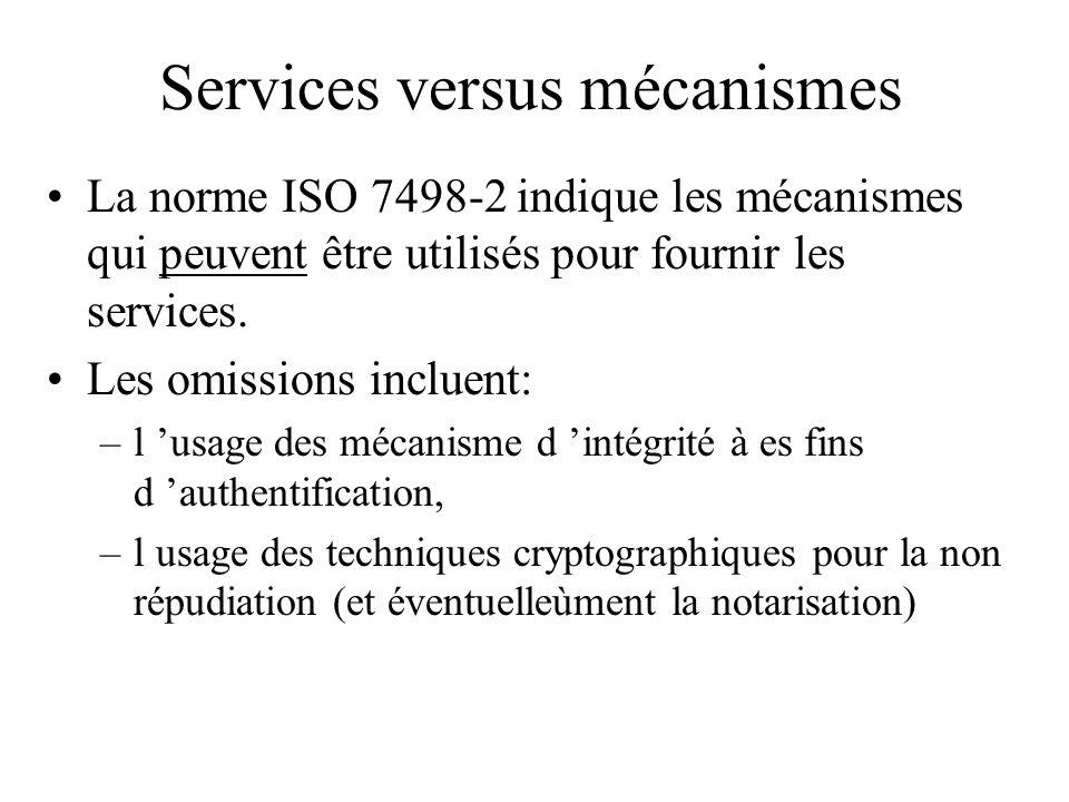 Services versus mécanismes