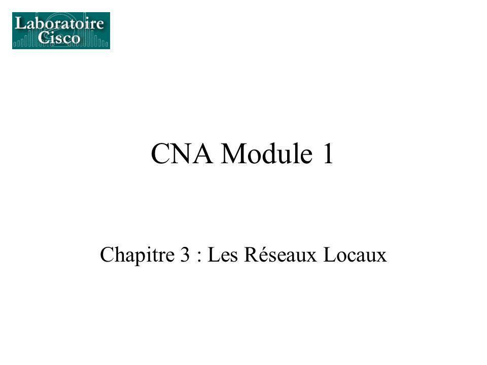 Chapitre 3 : Les Réseaux Locaux