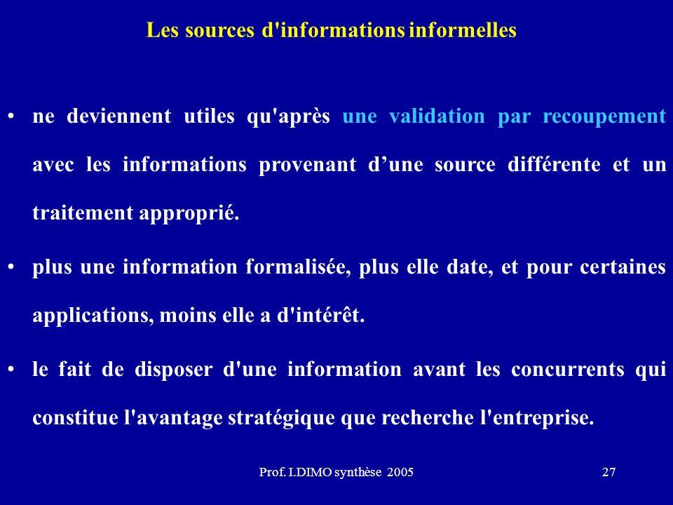 Les sources d informations informelles