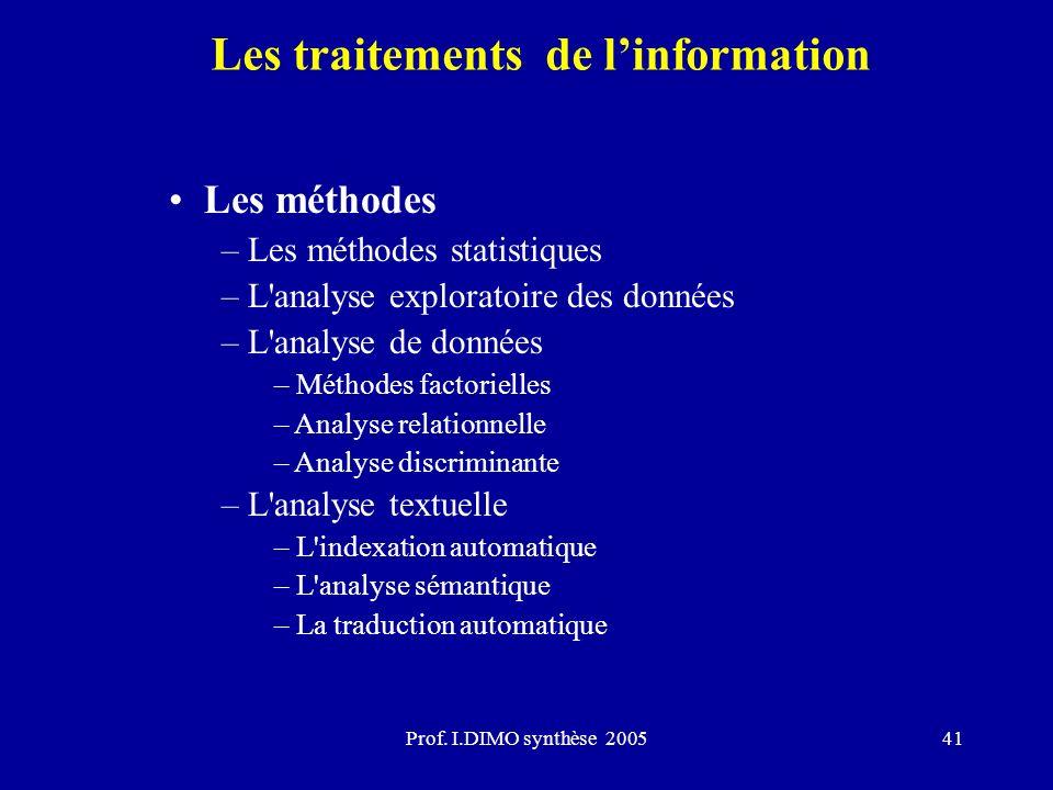 Les traitements de l'information