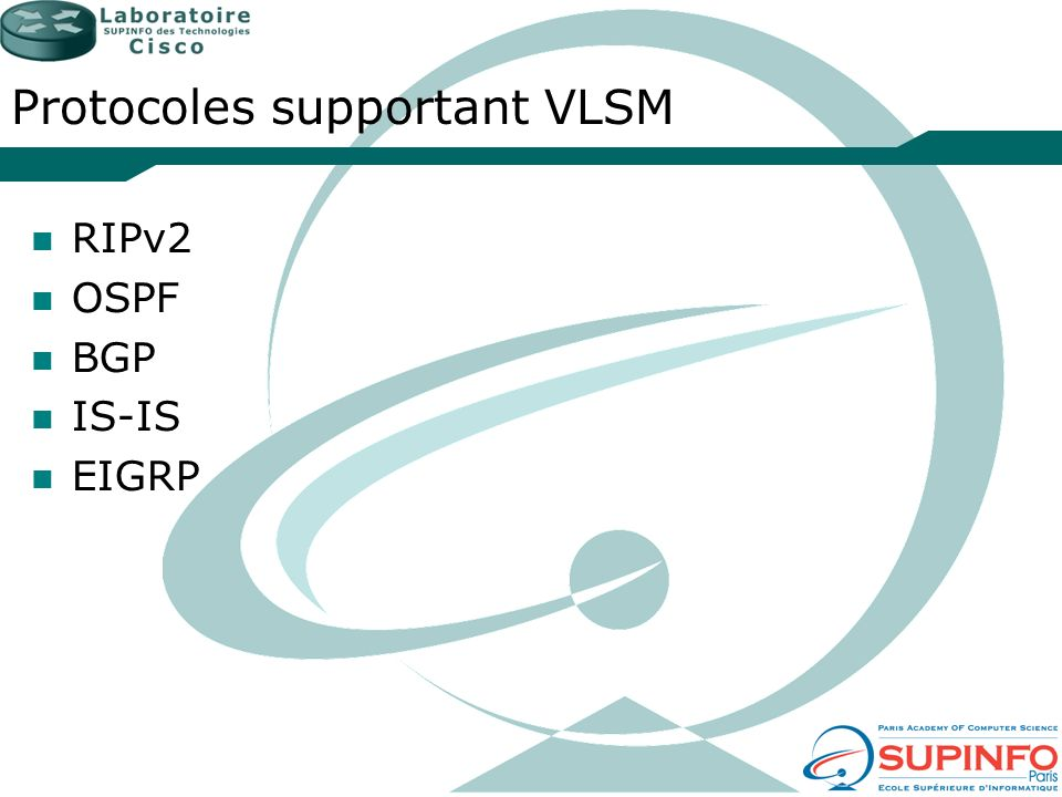 Protocoles supportant VLSM