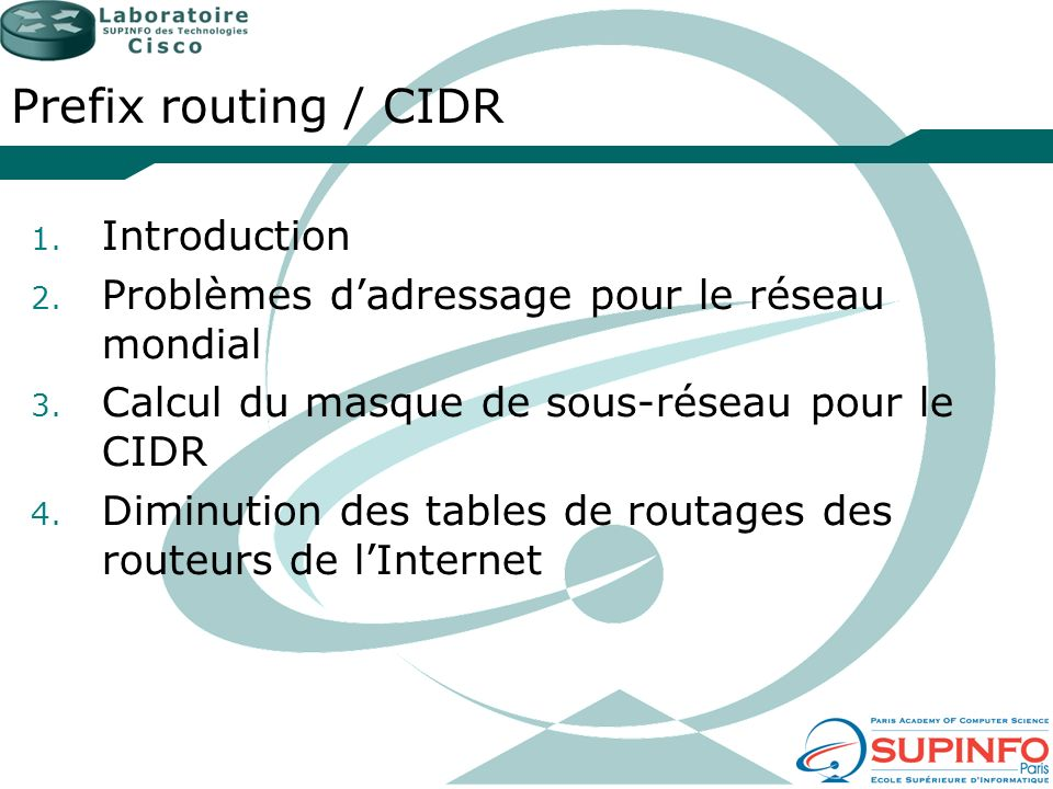 Prefix routing / CIDR Introduction