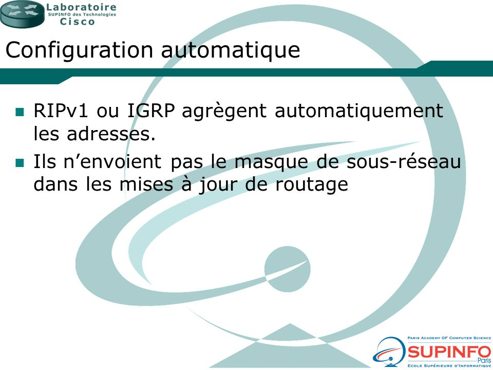 Configuration automatique
