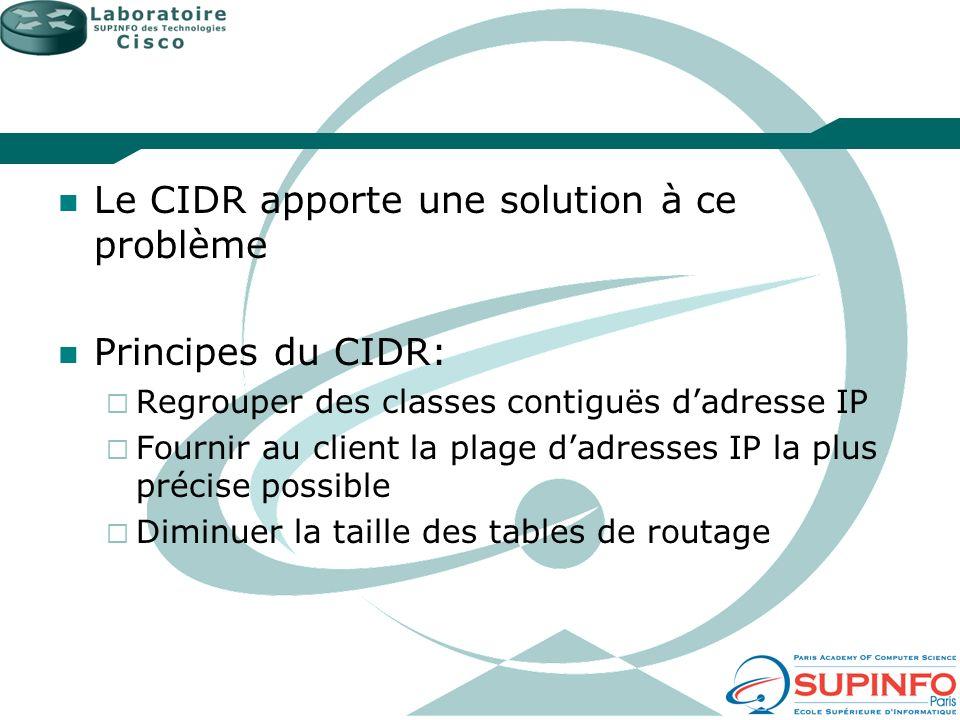 Le CIDR apporte une solution à ce problème