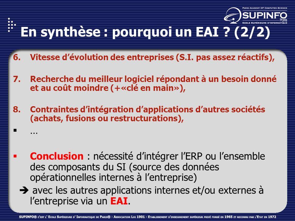 En synthèse : pourquoi un EAI (2/2)