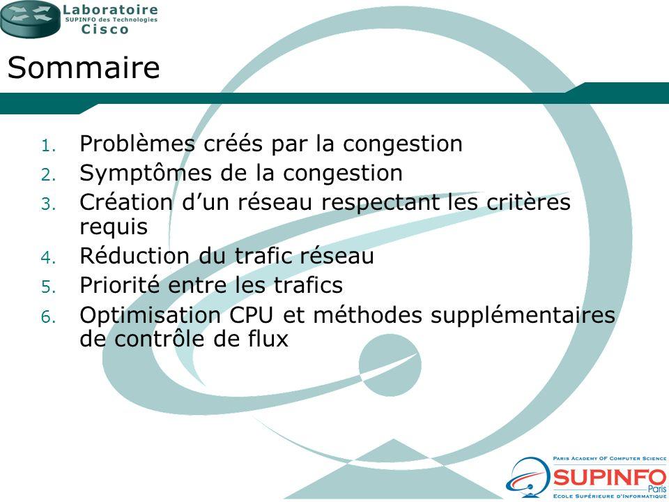 Sommaire Problèmes créés par la congestion Symptômes de la congestion