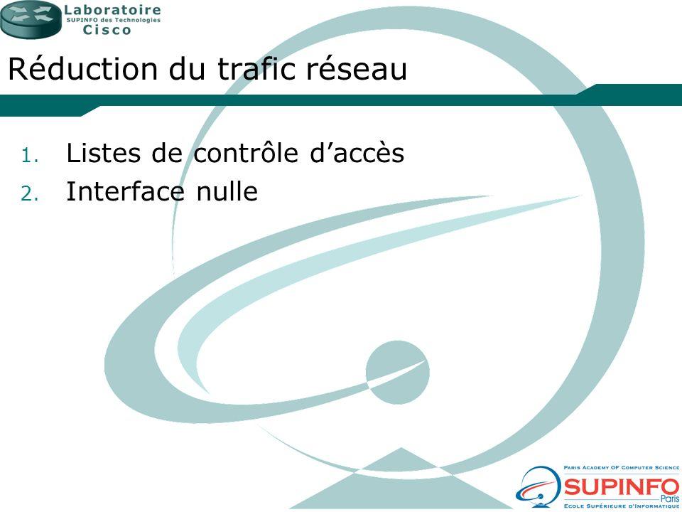 Réduction du trafic réseau