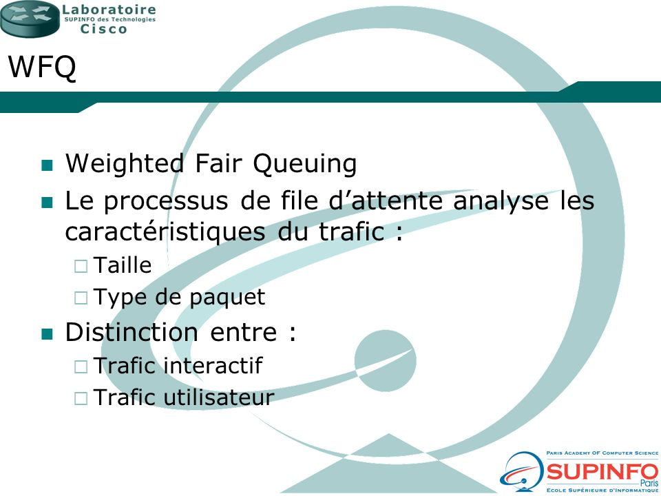 WFQ Weighted Fair Queuing
