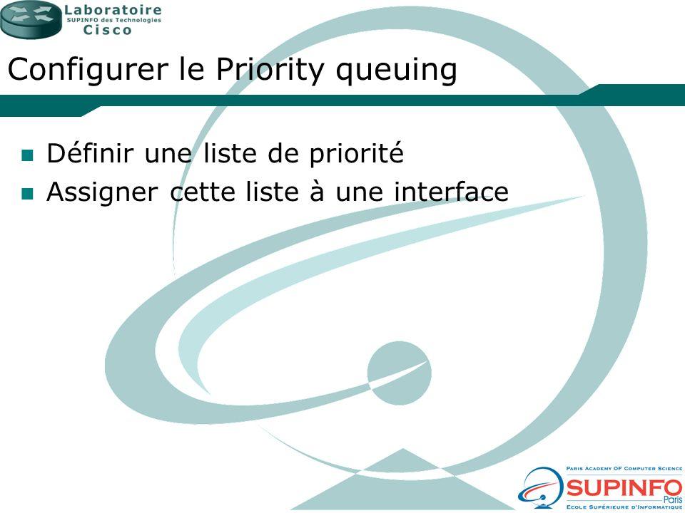 Configurer le Priority queuing