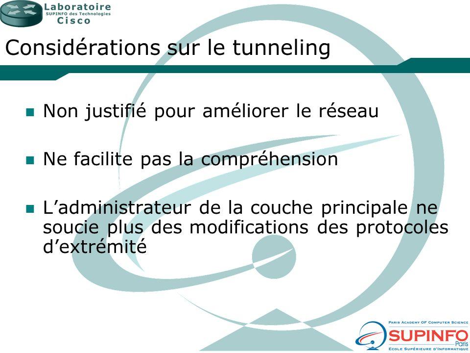 Considérations sur le tunneling