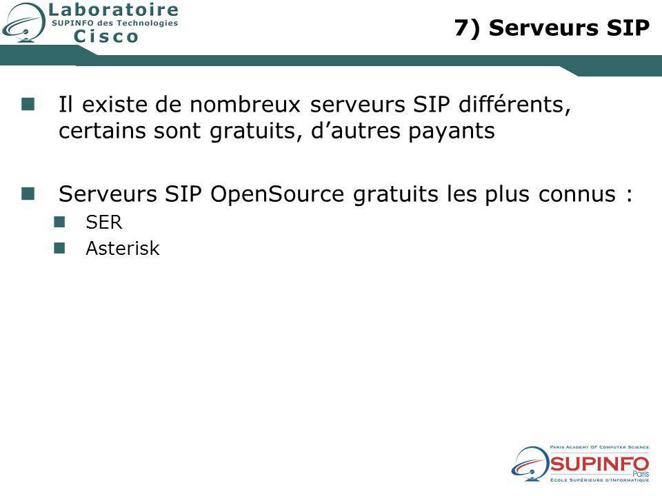 Serveurs SIP OpenSource gratuits les plus connus :