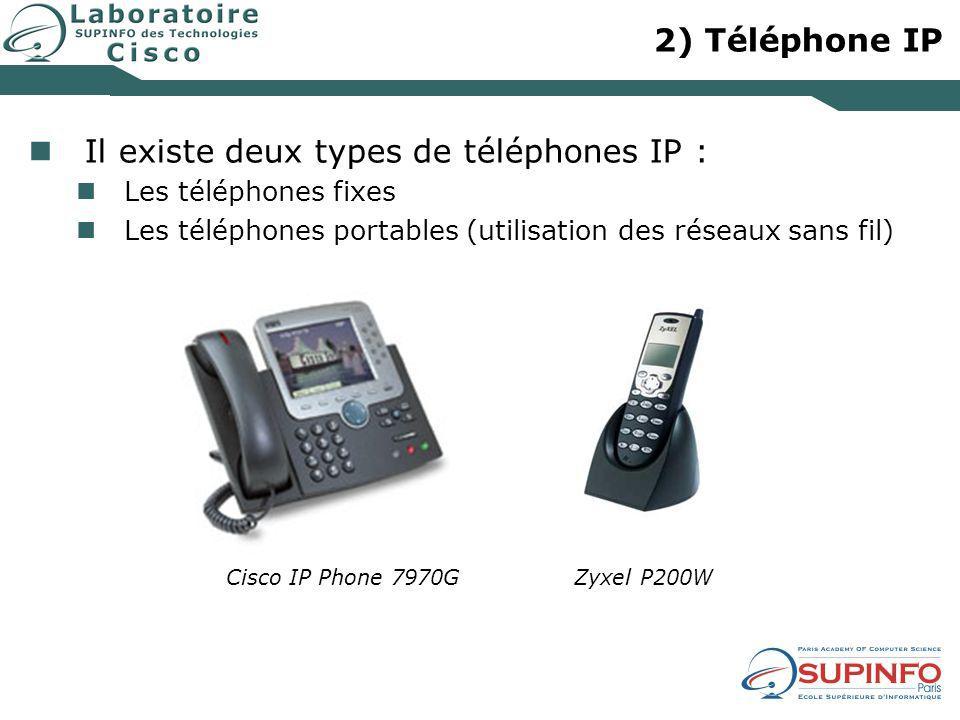 Il existe deux types de téléphones IP :