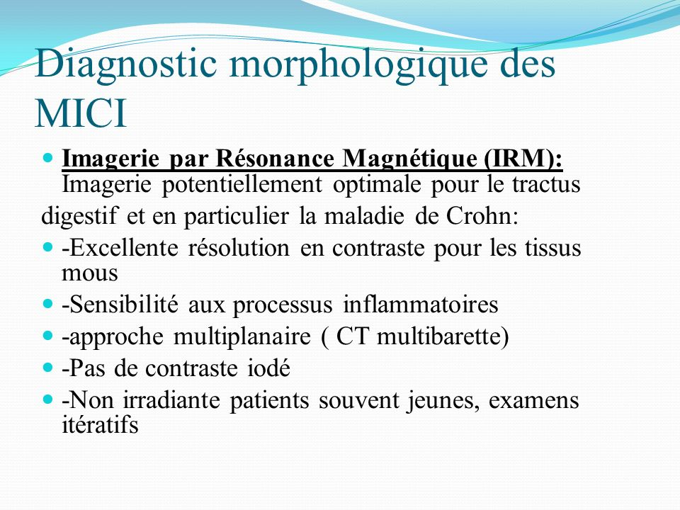 Diagnostic morphologique des MICI