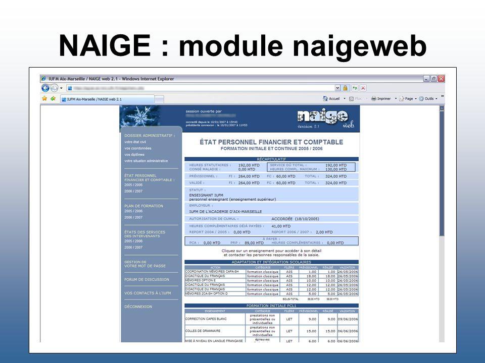 NAIGE : module naigeweb