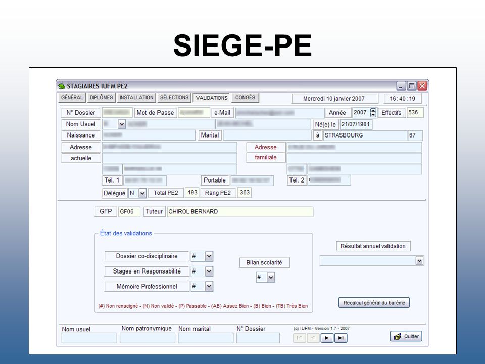 SIEGE-PE