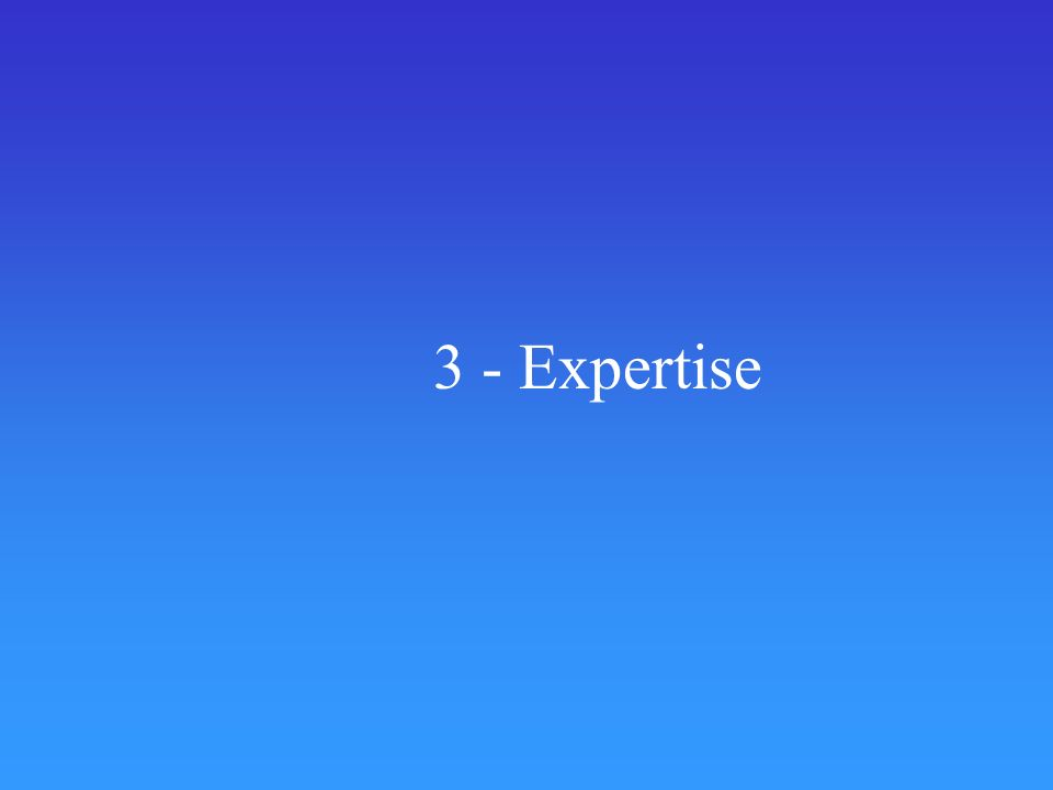 3 - Expertise
