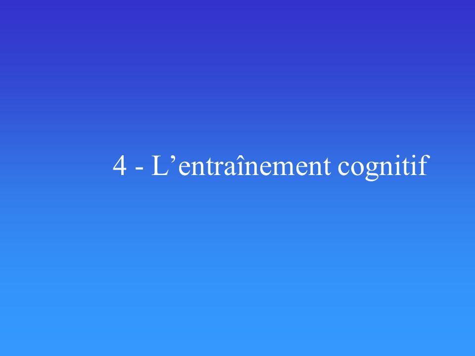 4 - L'entraînement cognitif