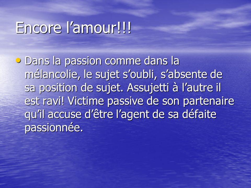 Encore l'amour!!!