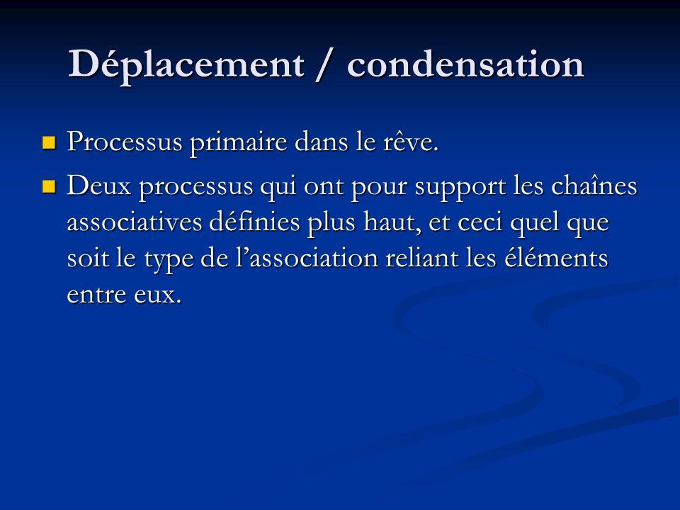 Déplacement / condensation