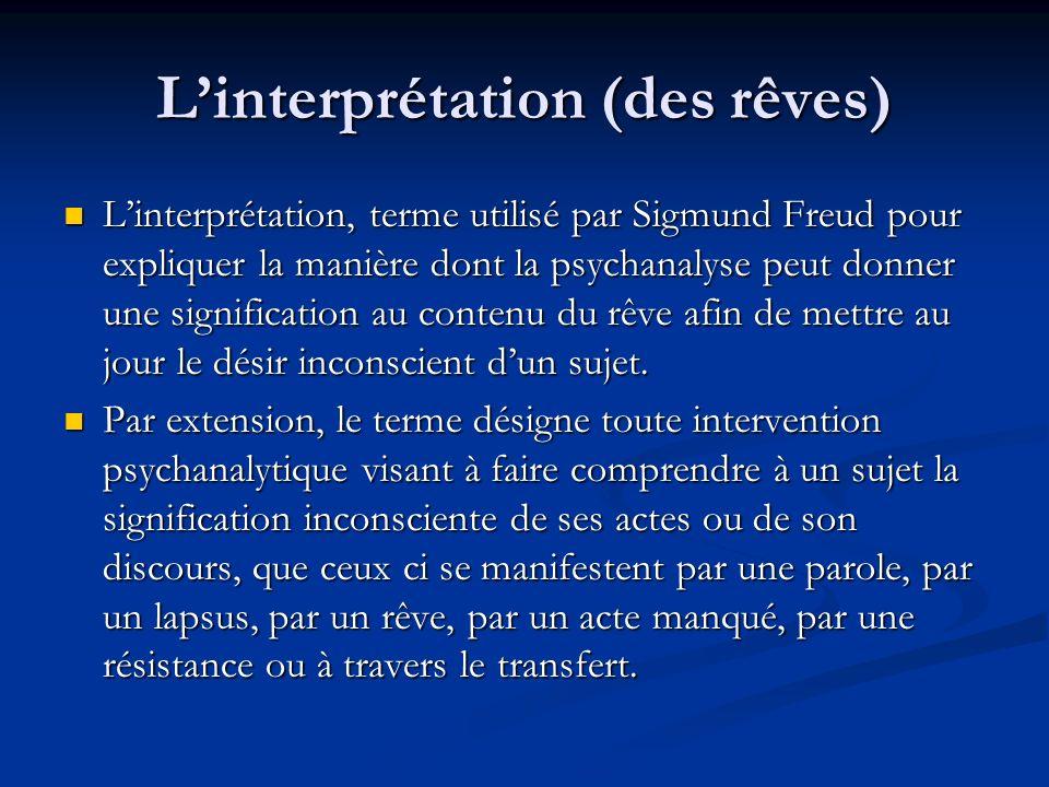 L'interprétation (des rêves)