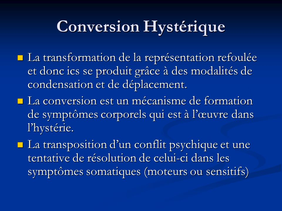 Conversion Hystérique