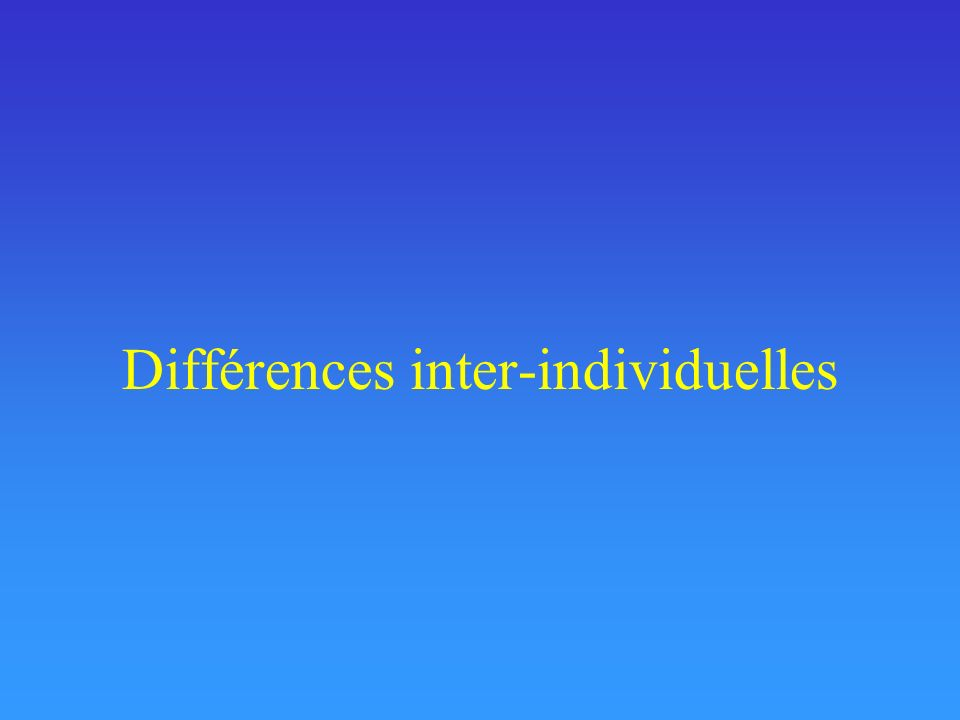 Différences inter-individuelles