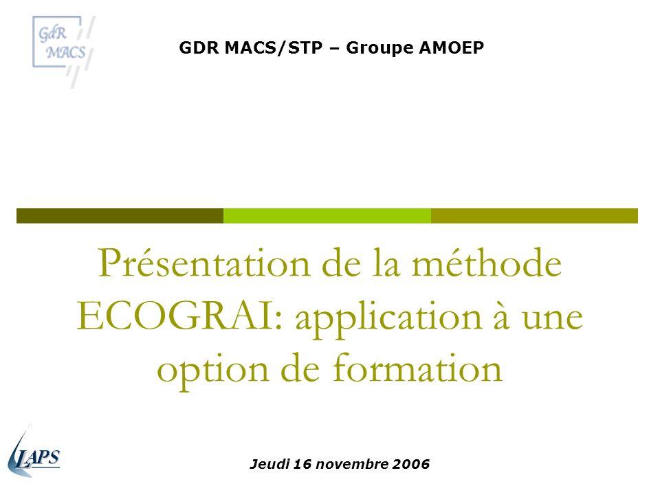 GDR MACS/STP – Groupe AMOEP
