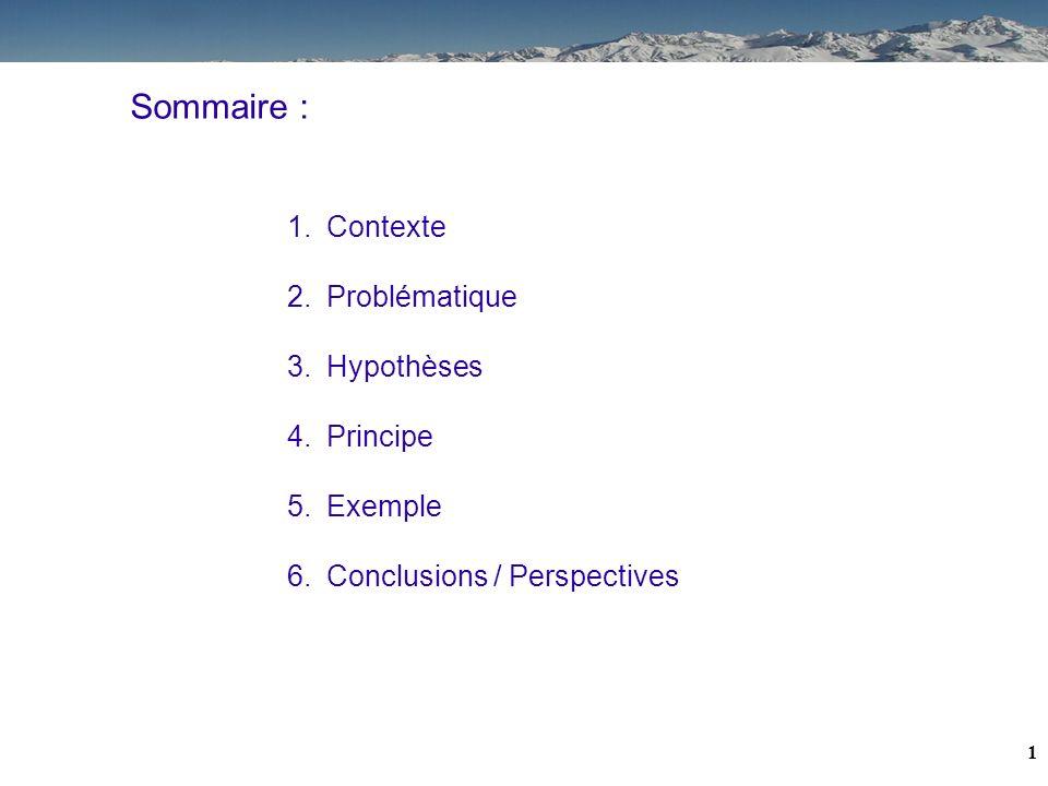 Sommaire : Contexte Problématique Hypothèses Principe Exemple