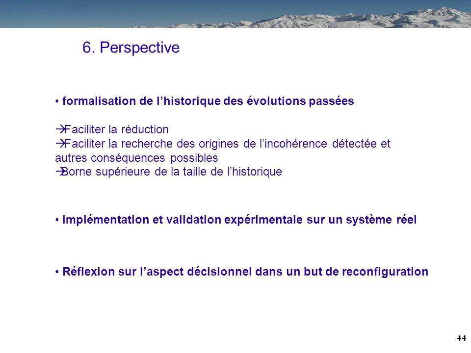 6. Perspective formalisation de l'historique des évolutions passées