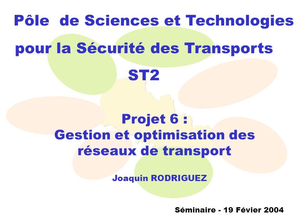 Gestion et optimisation des réseaux de transport