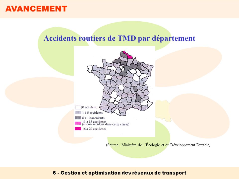 Accidents routiers de TMD par département