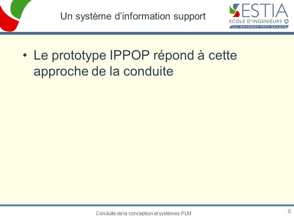 Un système d'information support