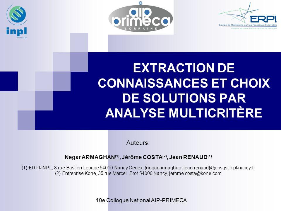 Negar ARMAGHAN(1), Jérôme COSTA(2), Jean RENAUD(1)