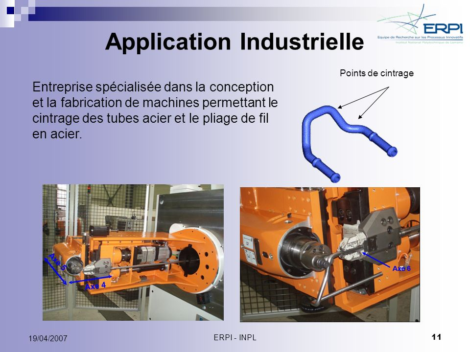 Application Industrielle