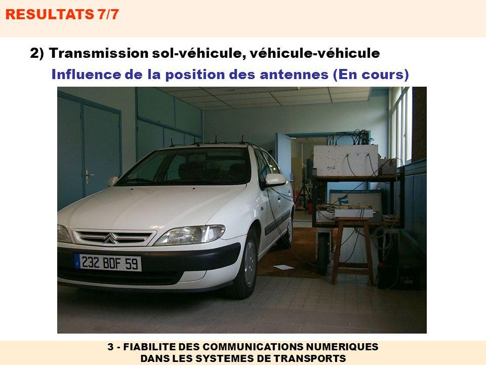 2) Transmission sol-véhicule, véhicule-véhicule